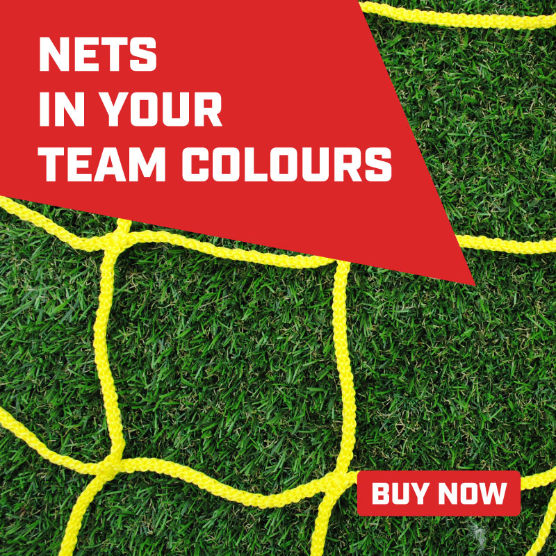MH Goals can produce goal nets in your team colours