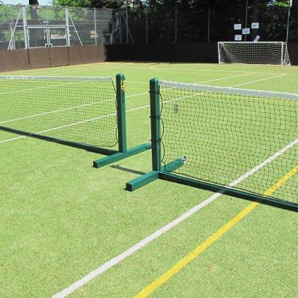 Freestanding Steel Tennis Posts