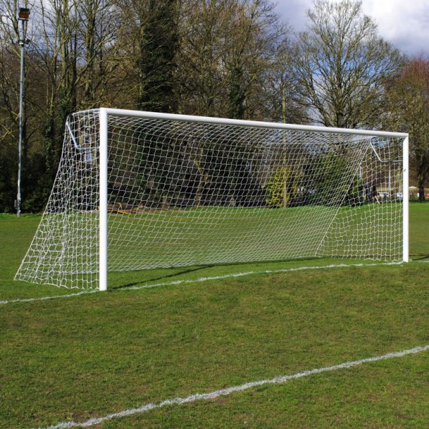 Youth Club 21x7 Football Goal Package: 11-A-Side Socketed Aluminium