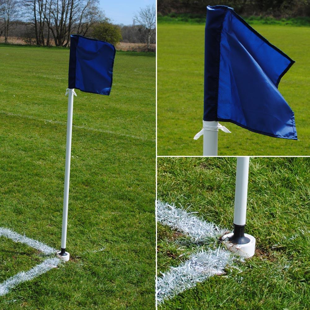 MH Goals 32mm Spring Back Corner Pole Set