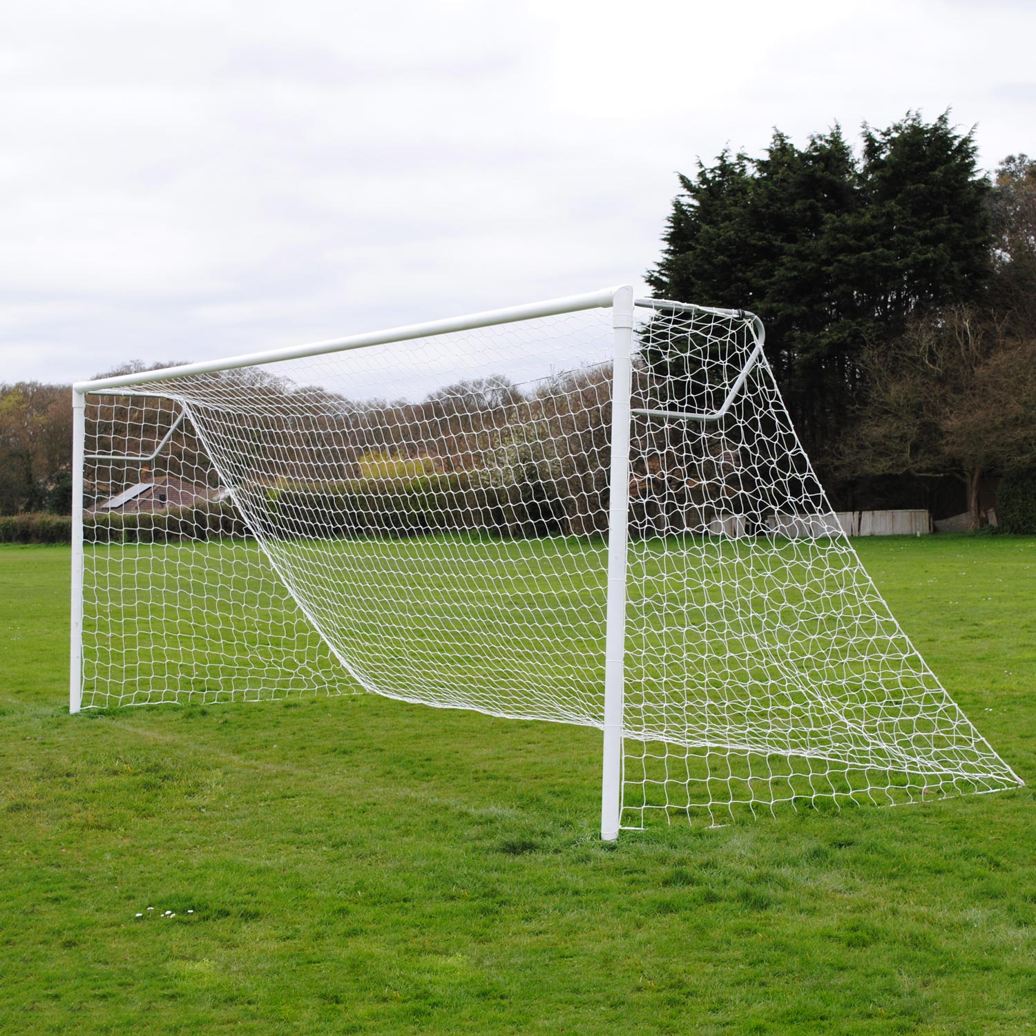 Youth Extra Heavy Duty 21x7 Football Goal Package: 11-A-Side Socketed Steel