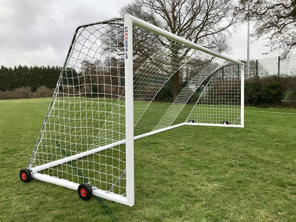 Senior Wheeled 24x8 Football Goal Package: 11-A-Side Freestanding Aluminium
