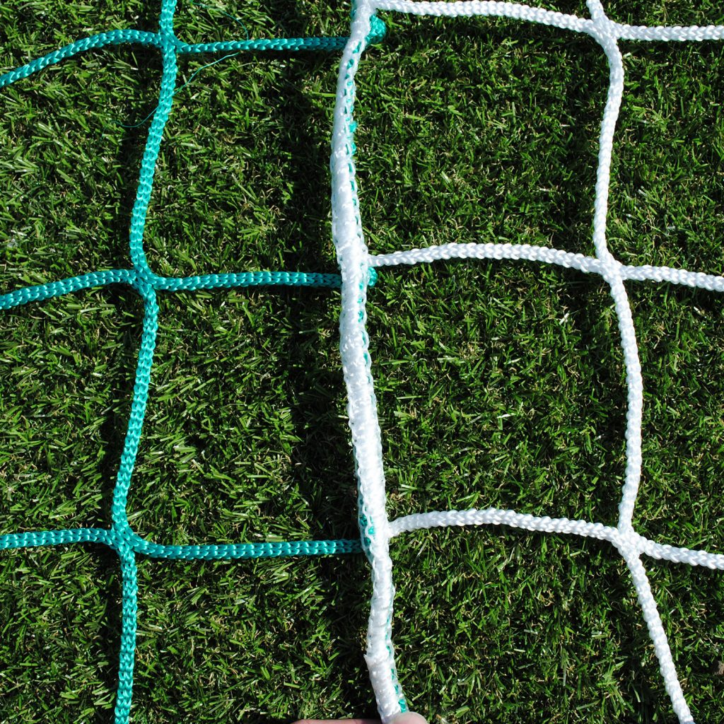 Two Colour Vertical Striped Standard Nets for Mini Soccer 16x6 Football Goals