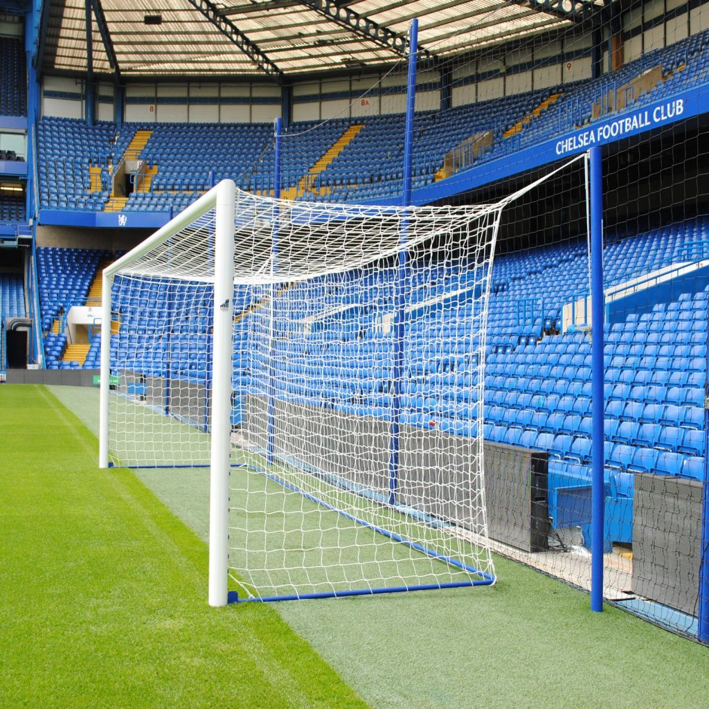 Pro Stadium 24x8 Box Football Goal Package: 11-A-Side Socketed Aluminium
