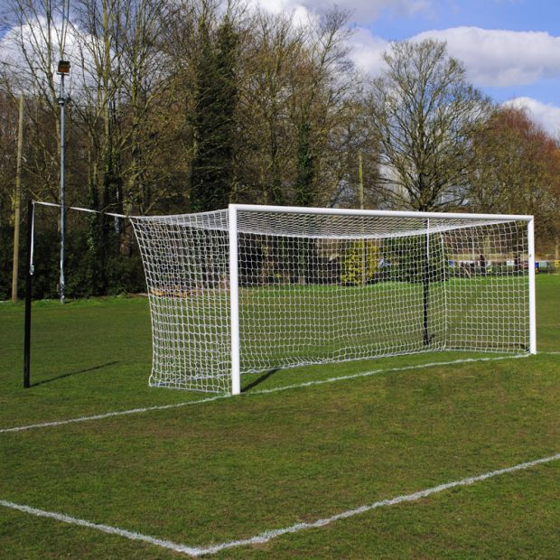 Match 24x8 Box Football Goal Package: 11-A-Side Socketed Aluminium