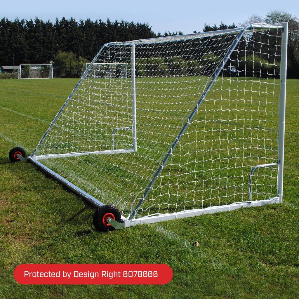 16x6 Heavy Duty Wheeled Football 7v7 Goal Package: Mini Soccer Freestanding Steel