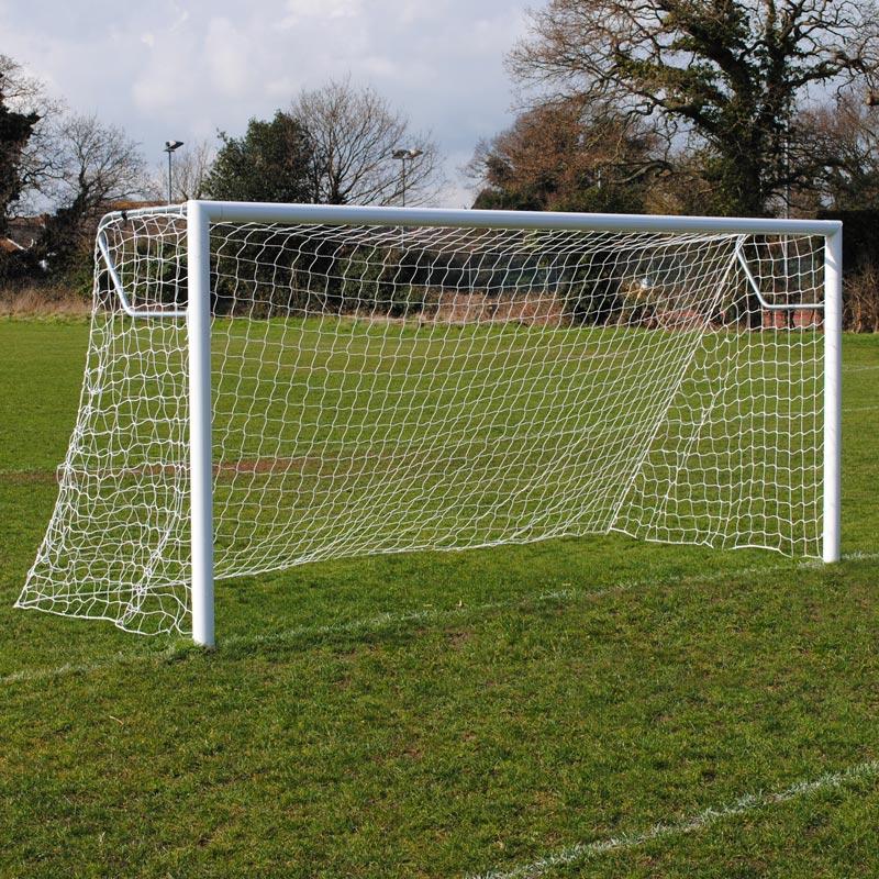 Club 16x7 Football Goal Package: 9v9 Socketed Aluminium