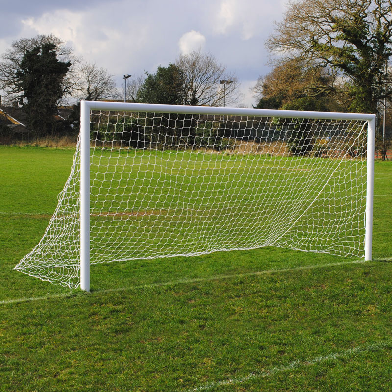 Standard Quick Release 16x7 Football Goal Package: 9v9 Socketed Aluminium