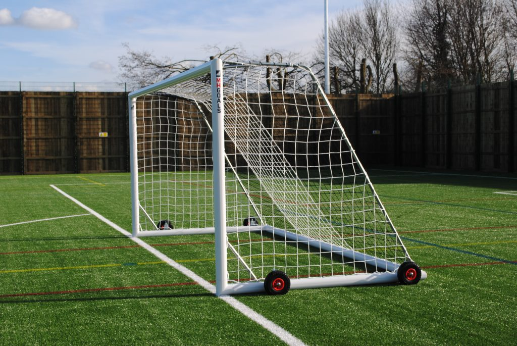 16x6 Selfweighted Wheeled Football 7v7 Goal Package: Mini Soccer Freestanding Aluminium