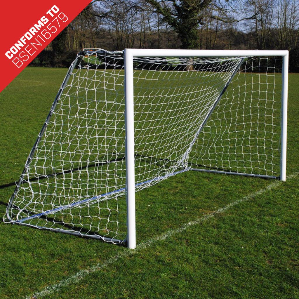 12x6 Lightweight Folding Football 7v7 Goal Package: Mini Soccer Freestanding Aluminium