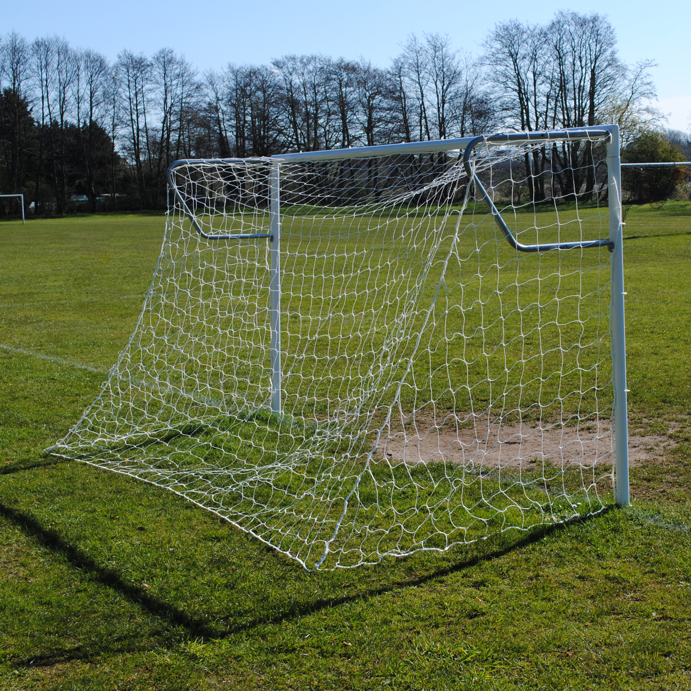 12x6 Heavy Duty 60mm Football 7v7 Goal Package: Mini Soccer Socketed Steel