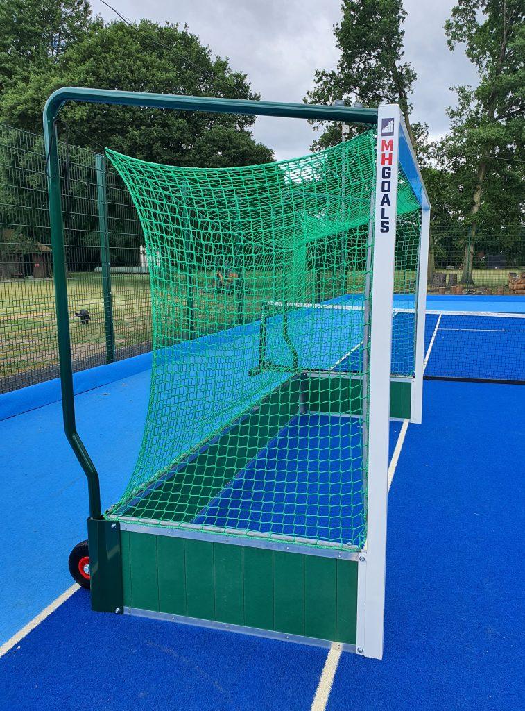 Standard Aluminium Hockey Goals with Wheels