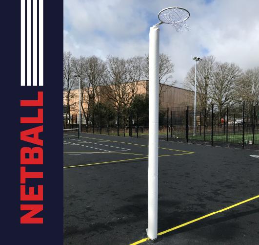 International Socketed Netball posts
