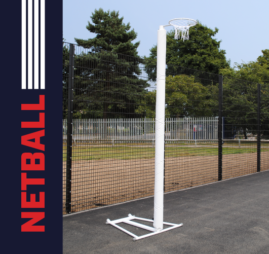 Post protectors for 80mm netball posts