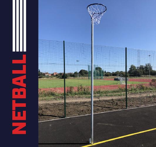 Regulation Socketed Netball Posts