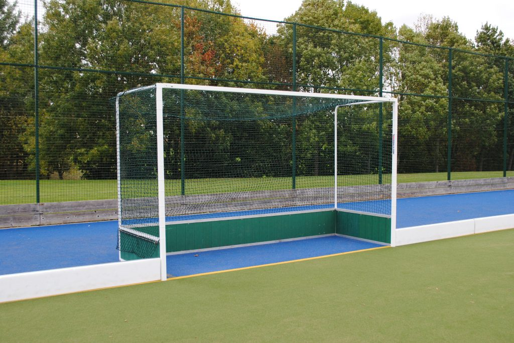 Steel Hockey Goals with PVC Backboards and Wheels