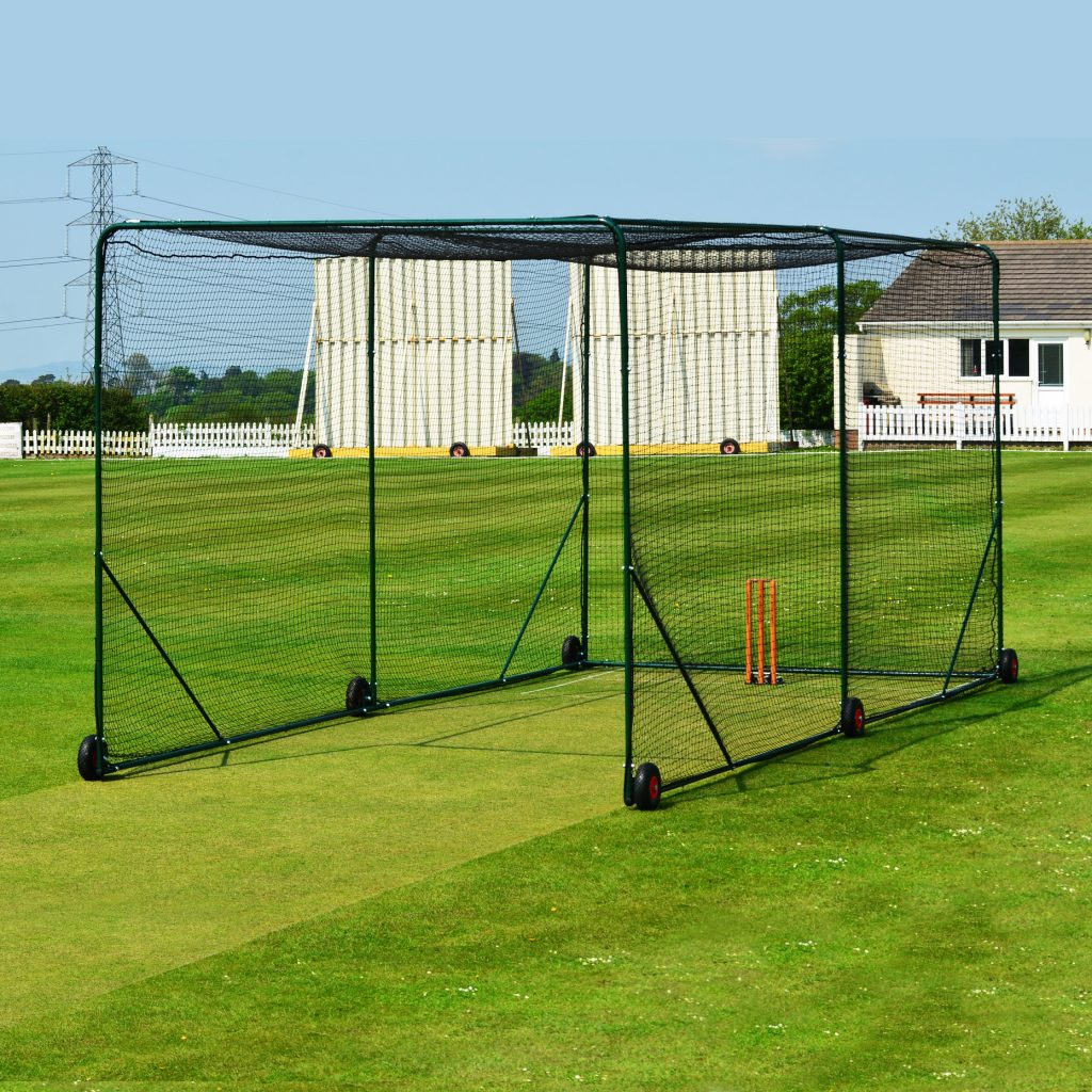 Fortress cricket cage mhgoals ltd for Indoor cricket net design