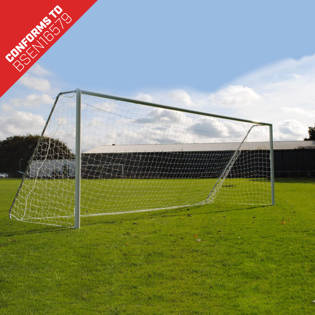 Senior Lightweight Freestanding Folding 24x8 Football Goal Package: 11-A-Side Freestanding Aluminium