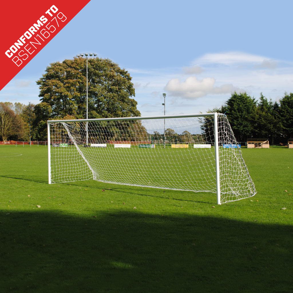 Youth Lightweight Freestanding Folding 21x7 Football Goal Package: 11-A-Side Freestanding Aluminium