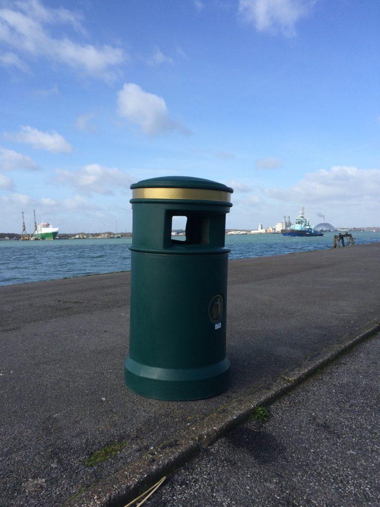 Outdoor Litter Bin - 100 Litre Large Capacity