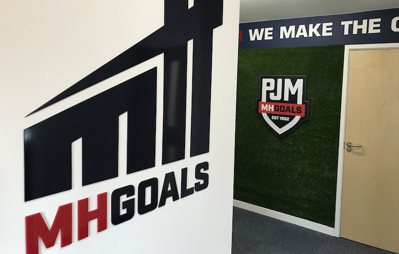 Grass wall in the MH Goals office