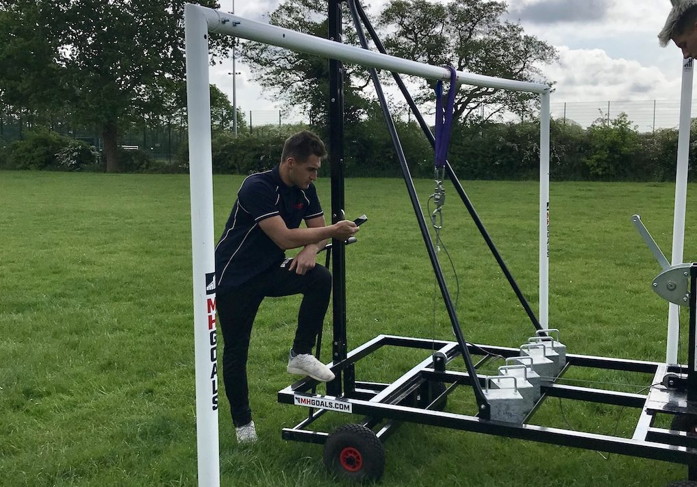 Goalpost safety testing for BSEN16579