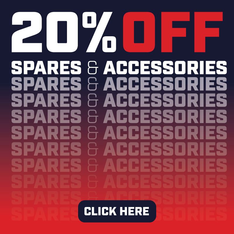 20% off Spares and Accessories