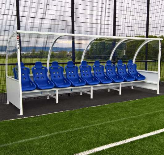 Premium Team Shelter with full bodied bucket seats
